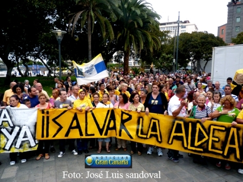 La Aldea se manifiesta en Las Palmas de Gran Canaria