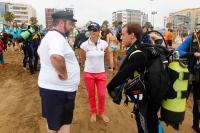 limpieza playa alcaravaneras las palmas