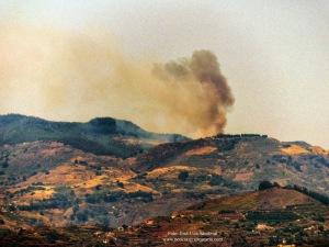 Incendio Cruz de Tejeda 24 octubre